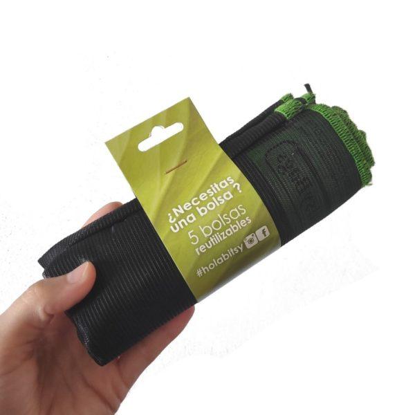 Pack 5 bolsas reutilizables Bitsybags