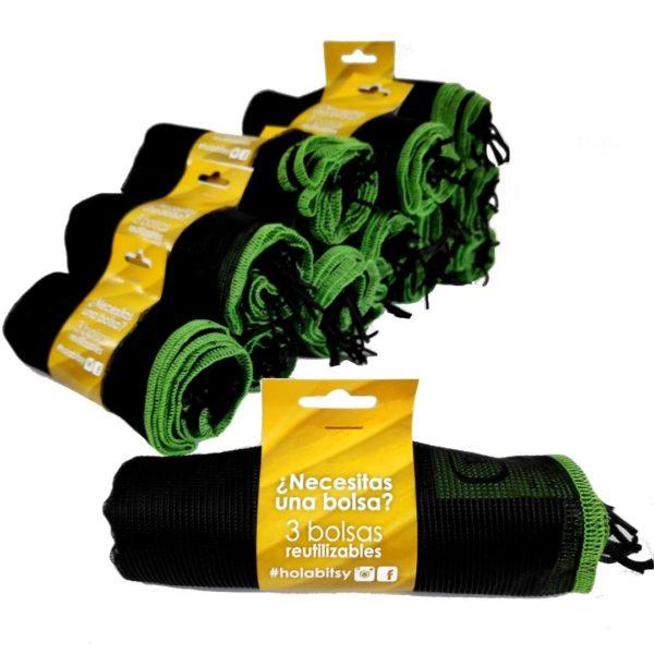 Imagen Pack Ahorro 54 bolsas reutilizables Bitsybags (18 packs de 3)